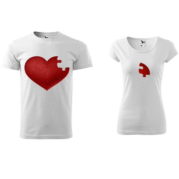 758badfc7ddc Tričká pre páry Puzzle Srdce – Vyrobené mnou